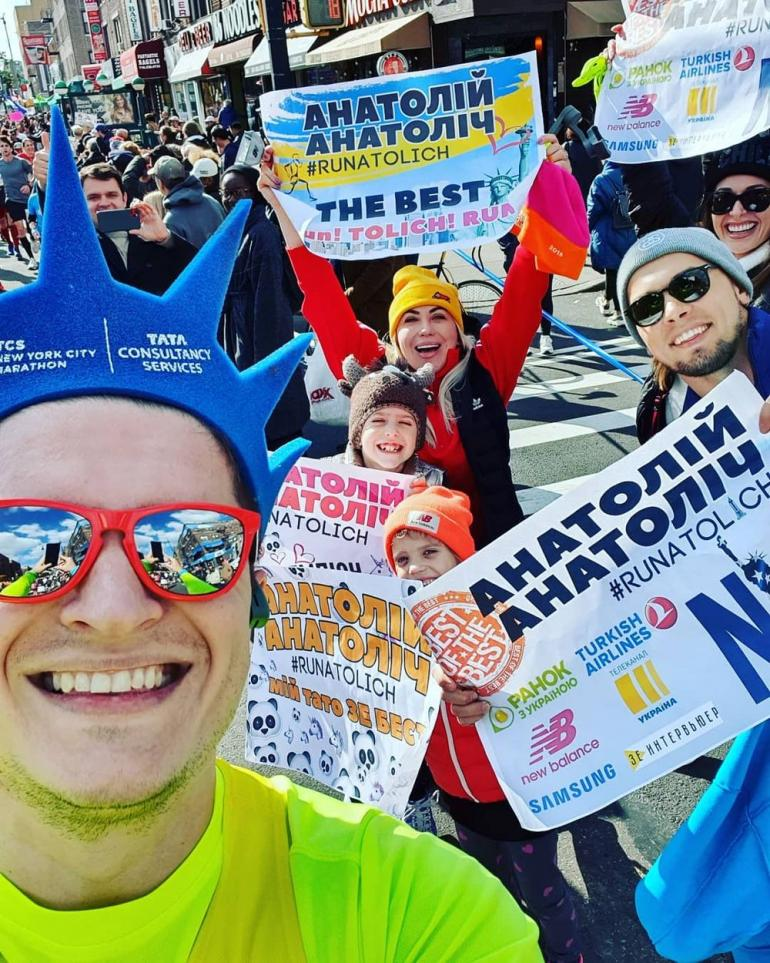 Анатолий Анатолич  на марафоне